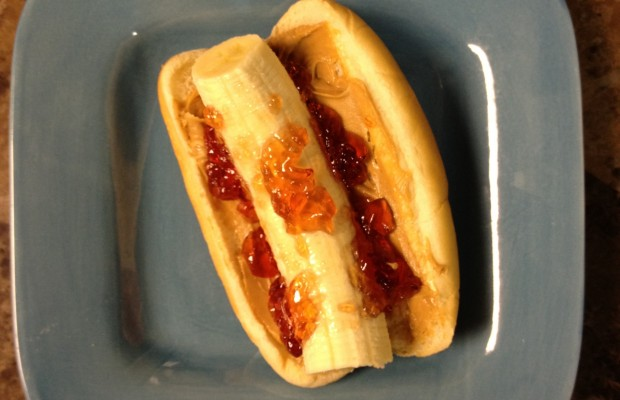 Andy's Banana Dog PB&J Sandwich
