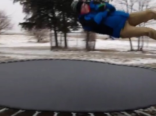 What Happens When You Jump on a Frozen Trampoline